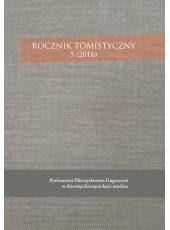 Rocznik Tomistyczny 5 (2016)
